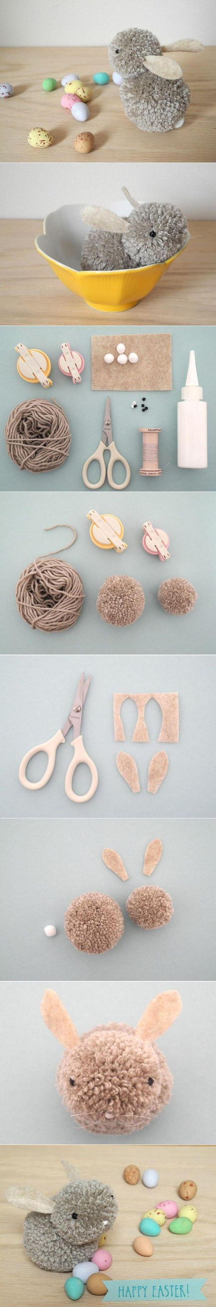 peluches feitos com pompons