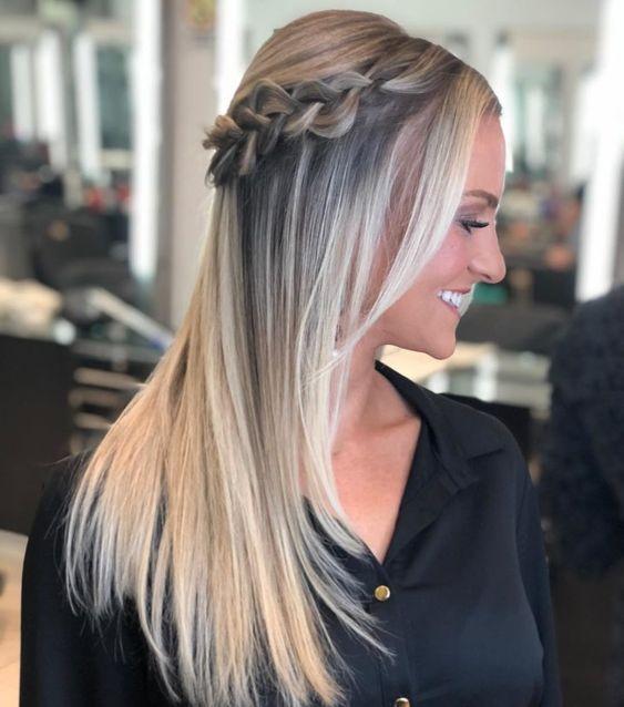 penteado cabelo liso 1