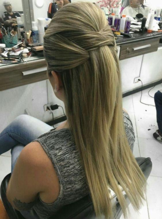 penteado cabelo liso 7