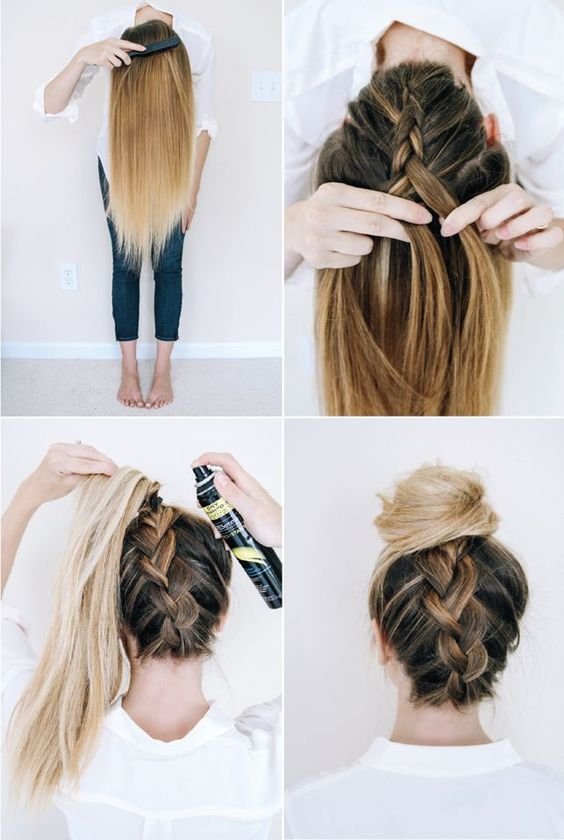 penteado calor passo passo 2