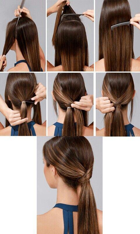 penteado calor passo passo 7