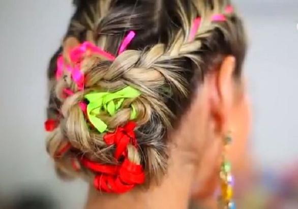 penteado carnaval fitas