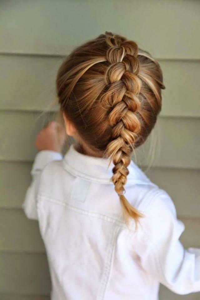 penteado com tranças para menina