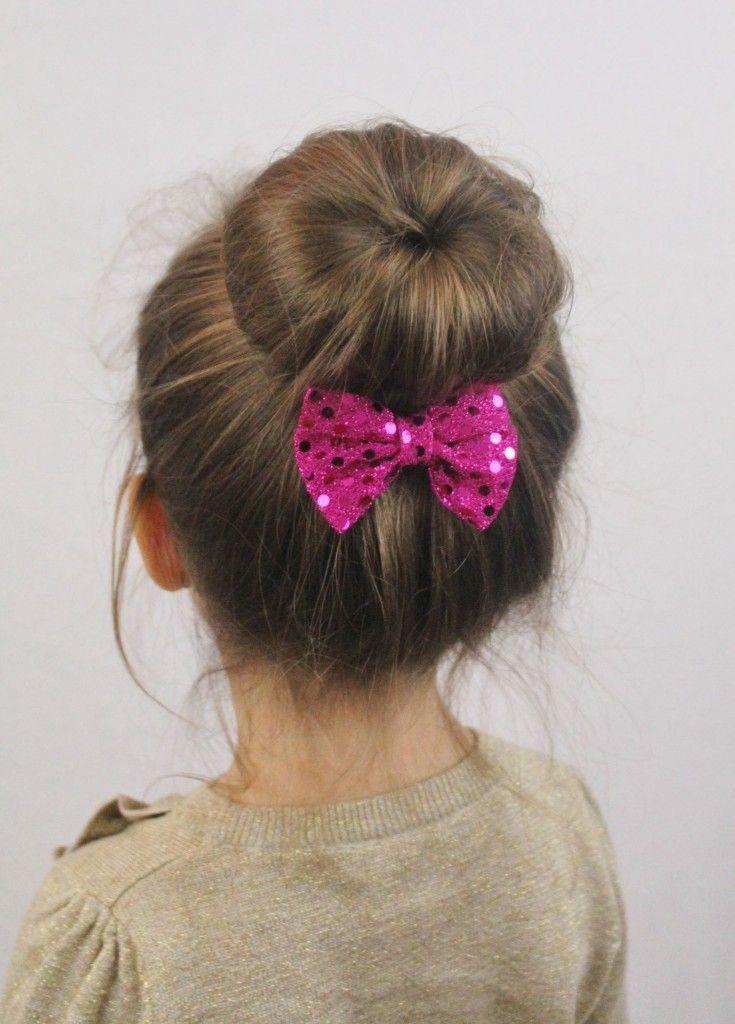 penteado de coque para menina