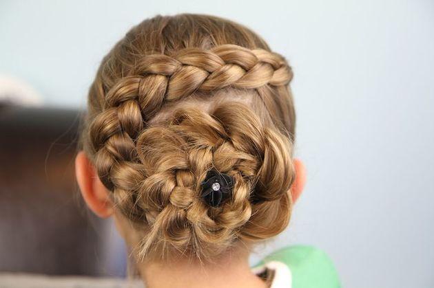 penteado de festa menina