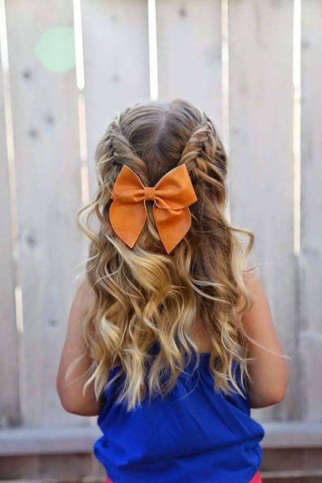 penteado de menina com laço