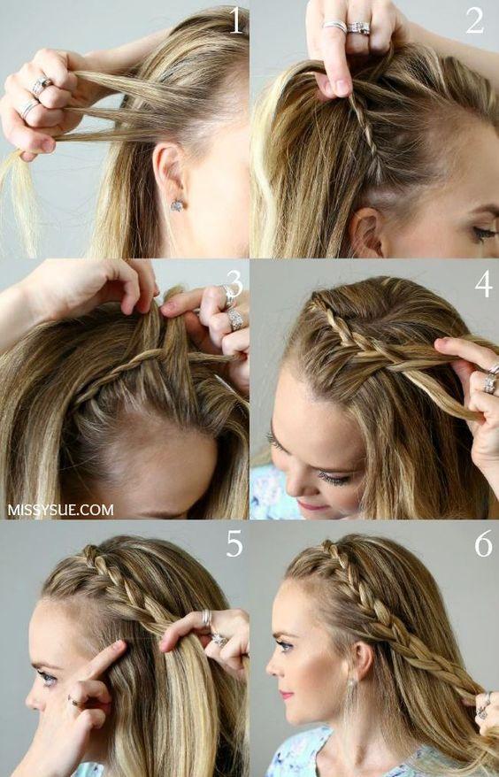 penteado facil passo passo 1