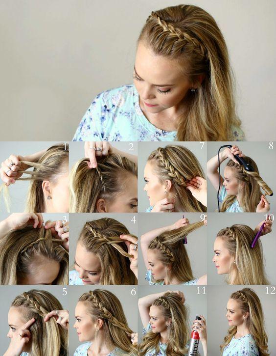penteado facil passo passo 2