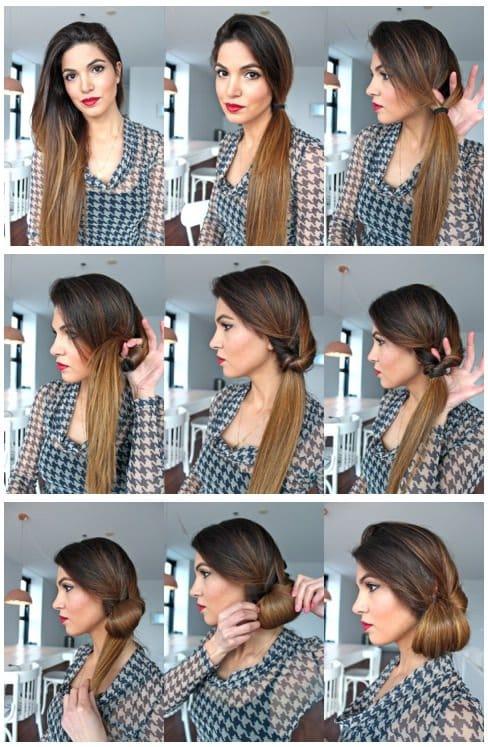 penteado facil passo passo 4