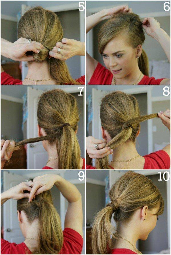 penteado facil passo passo 5