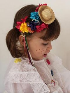 penteado festa junina acessorio 1