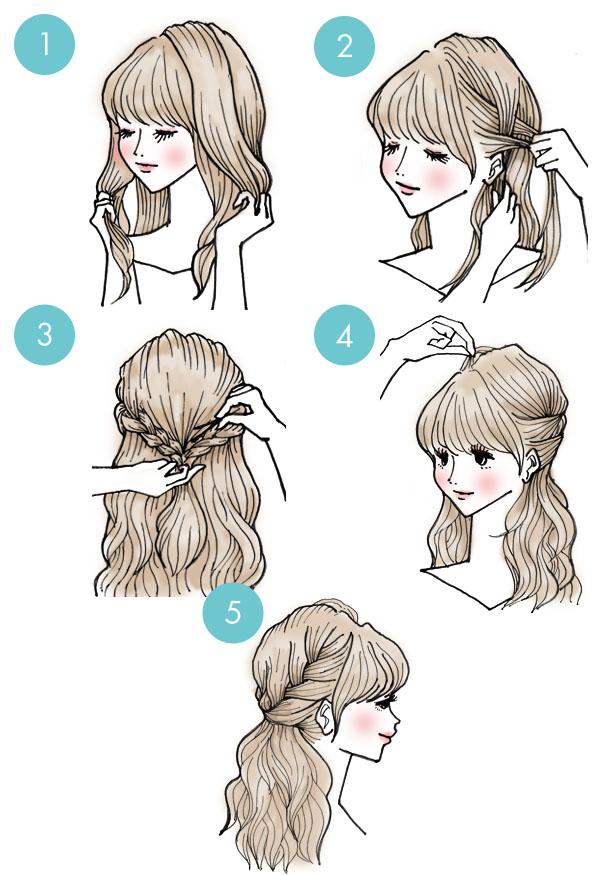 penteado rapido tranças