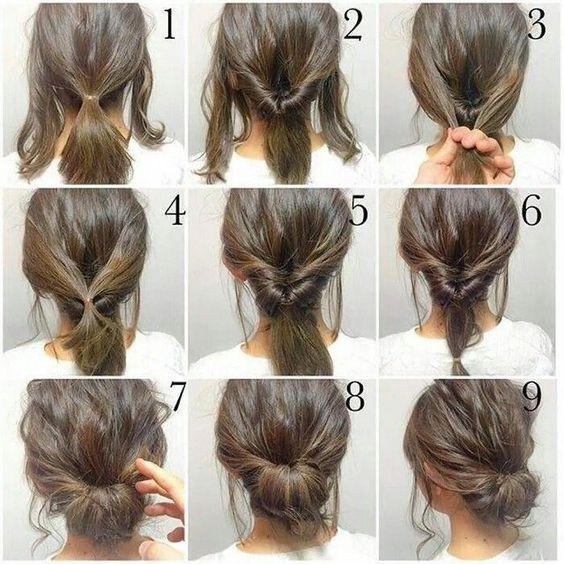 penteado simples cabelo coque