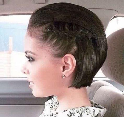 penteado simples cabelo curto formatura