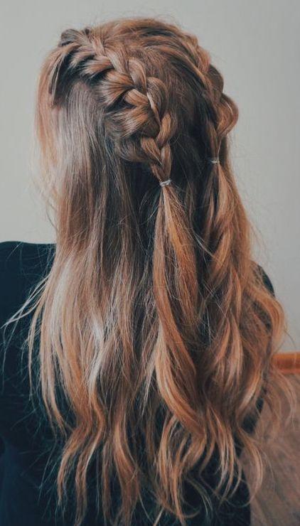 penteado simples cabelo longo tranca boxeur 1