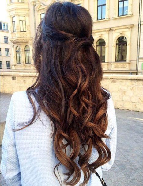 penteado simples cabelo longo