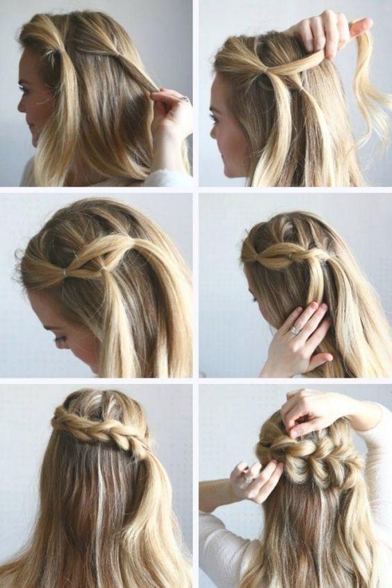 penteado simples passo passo cabelo longo