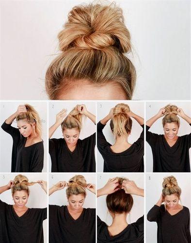 penteado simples passo passo coque