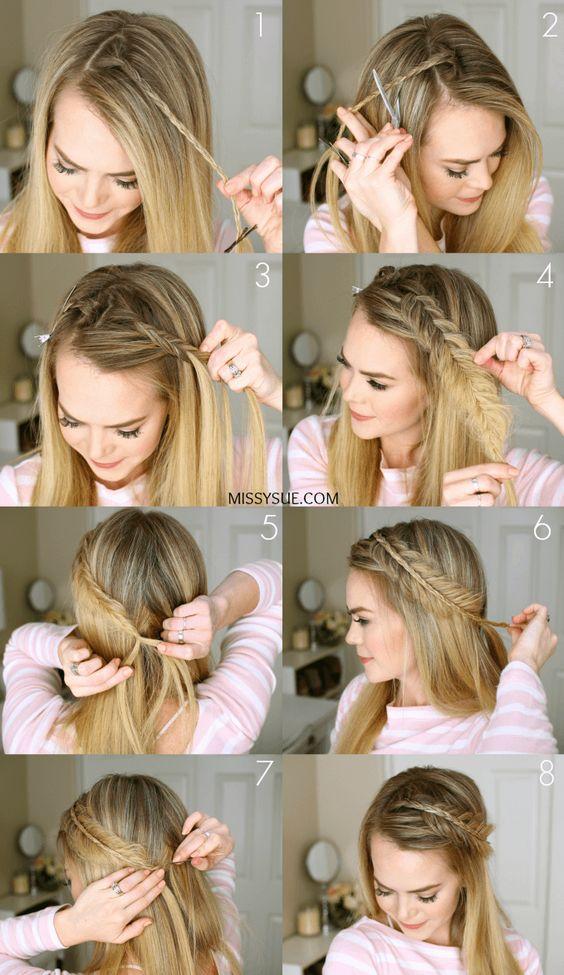 penteado simples passo passo tranca lateral