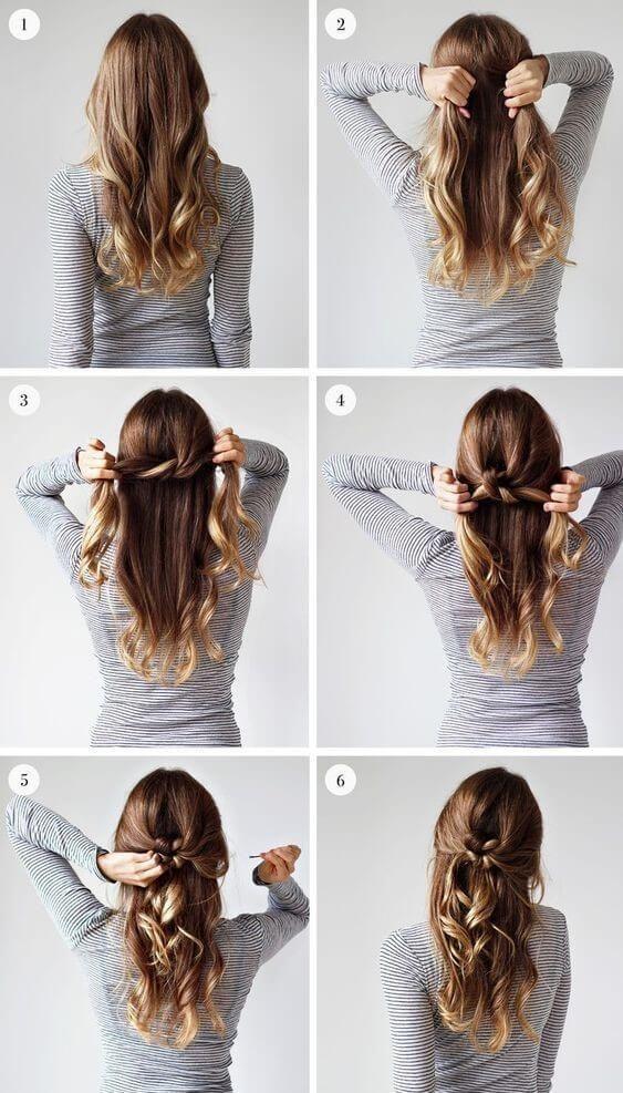 penteado simples passo passo tranca