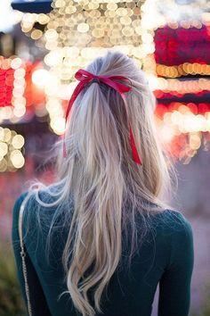 penteados festa junina cabelo longo laco