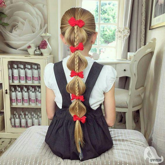 penteados festa junina crianca laco
