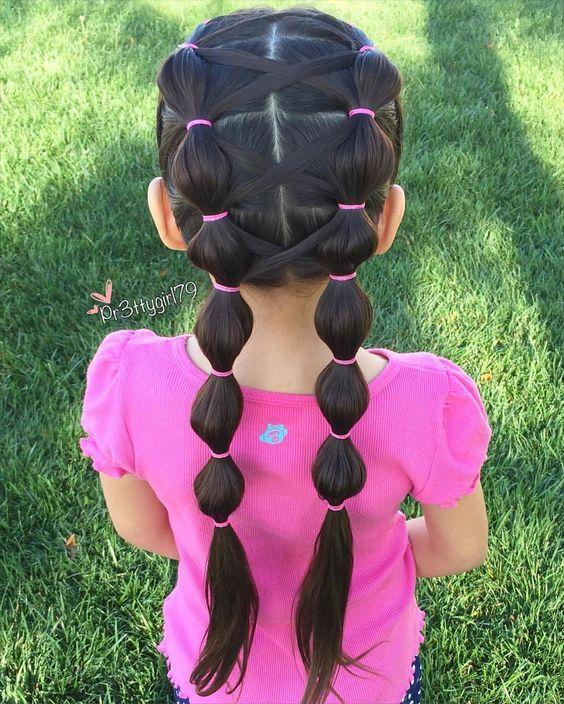 penteados festa junina crianca preso