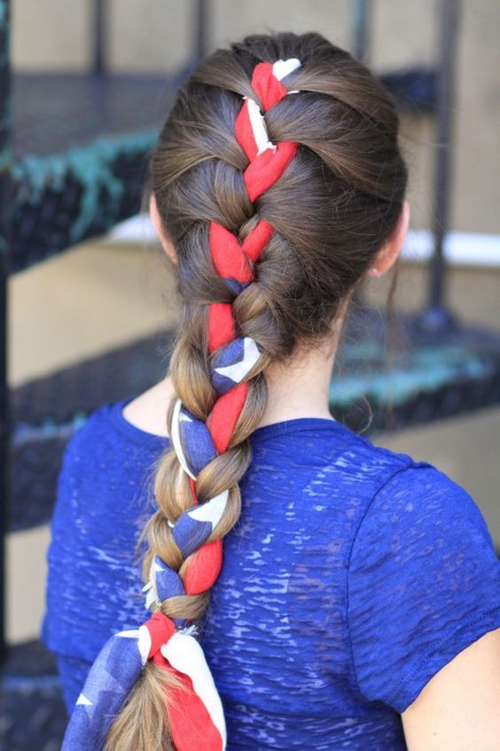 penteados festa junina crianca tranca
