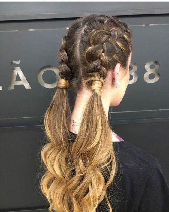 penteados festa junina tranca
