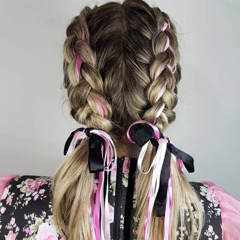 penteados festa junina tranca dupla