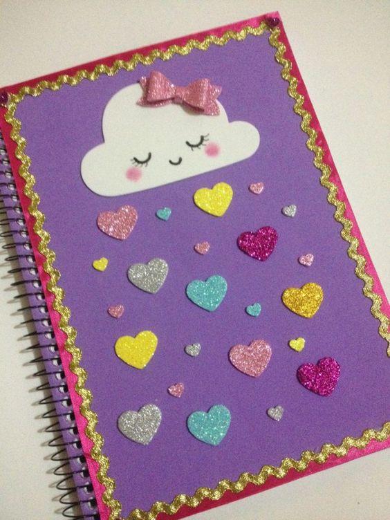 personalizar caderno EVA