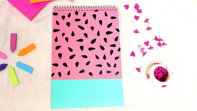 personalizar caderno melancia