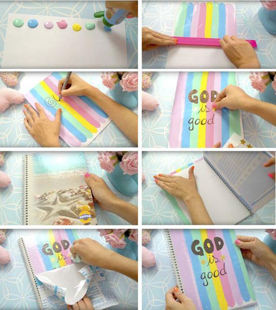 personalizar caderno pintura