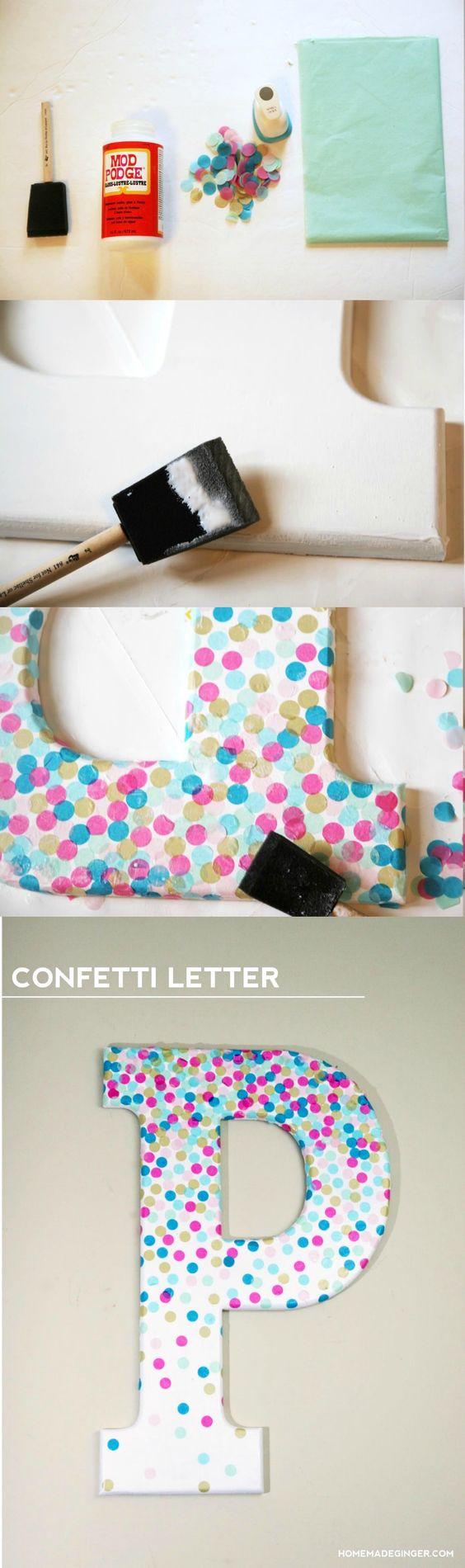 personalizar letras confetes