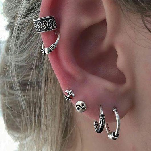 piercing na orelha argola ideias