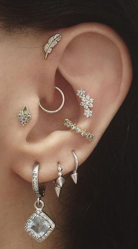 piercing na orelha argola simples