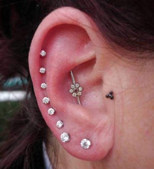 piercing na orelha bolinha