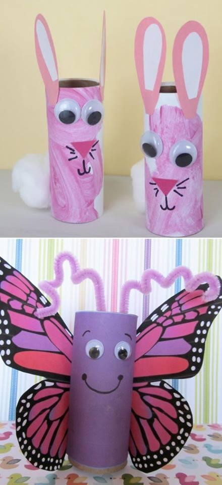 pinquedos rolos de papel pascoa borboleta