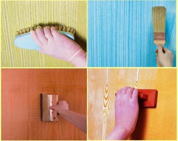 pintar paredes com escovas