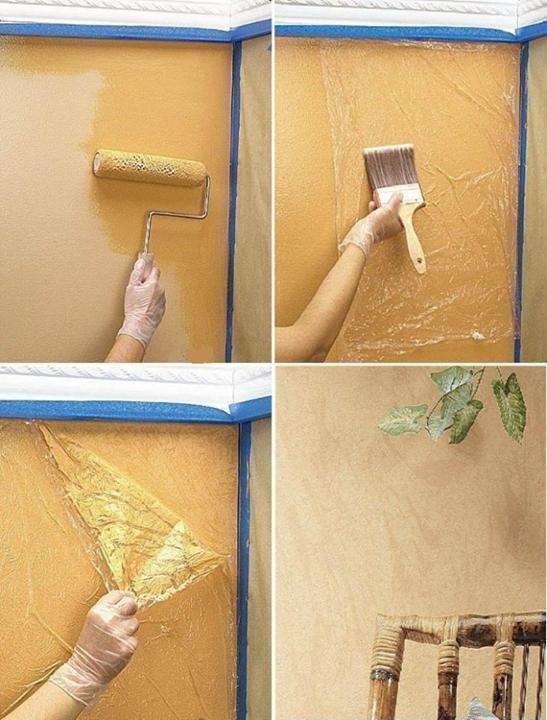 pintar paredes plástico