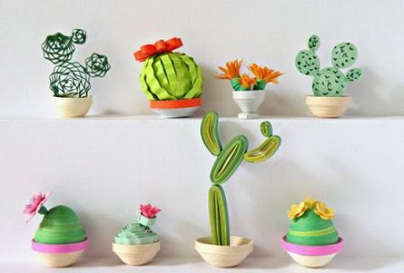 plantas papel decoracao catos 1