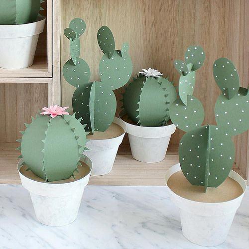 plantas papel decoracao catos