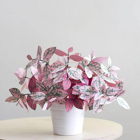 plantas papel decoracao flores 1