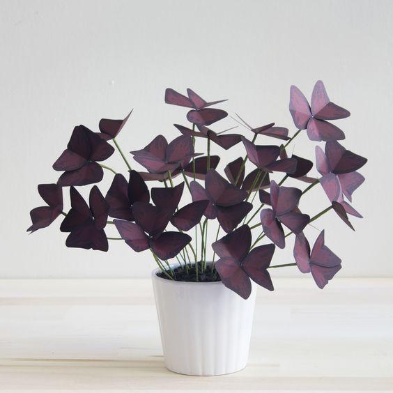plantas papel decoracao flores