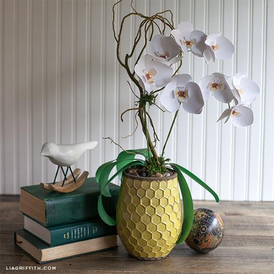 plantas papel decoracao orquideas