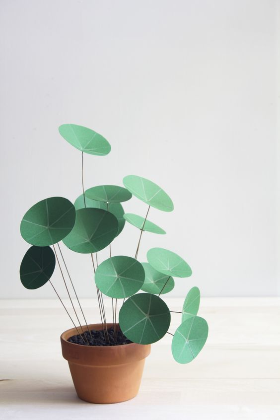 plantas papel decoracao