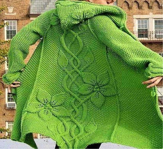 poncho croche trico manga