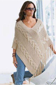poncho croche trico tradicional