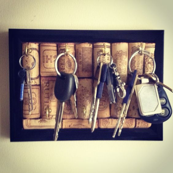 porta chaves rolhas cortiça