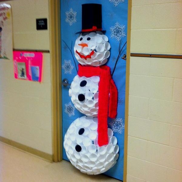 porta de natal decorada